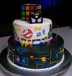 80s+cake - Click image to find more DIY & Crafts Pinterest pins