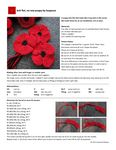A poppy knit flat that looks like it was knit in the round. A poppy knit flat that looks like it was Crochet Patterns For Beginners, Knitting Patterns Free, Free Knitting, Baby Knitting, Simply Knitting, Knitting Charts, Knitted Poppy Free Pattern, Knitted Flower Pattern, Knitted Poppies