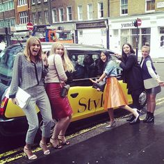 Team @Styloko ready for #LFW with our special #stylokotaxi!