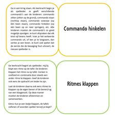 Ik heb kaartjes gemaakt met bewegingstussendoortjes, tekst van…