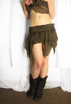 Mini pixie skirt forest. Lace skirt. Eco. by AbstractikaCrafts