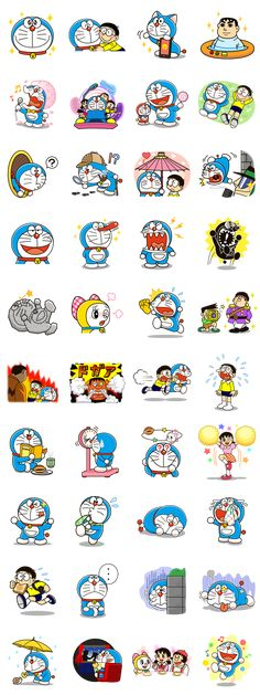 Doraemon Emotions Christmas & New Year Dorami Secret Gadgets in Thailand the Adventure Doraemon: Big G Animated Stickers Movie 2015 Moving Quotes on Job Doraemon Wallpapers, Cute Wallpapers, Anime Fnaf, Anime Manga, Doraemon Cartoon, Retro Poster, Line Sticker, Emoticon, Emoji