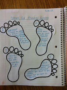 """The Teacher Who Hated Math: Problem Solving  Love the idea of using footprints for """"steps"""" in a multi-step problem!"""