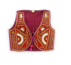 Hippie Indien Boho Vintage Weste Oberteil Ethno Folklore Gibsy Stickerei M L neu in Kleidung & Accessoires,Damenmode,Westen | eBay