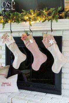 DIY Christmas Mantel Decor Ideas | onsuttonplace.com