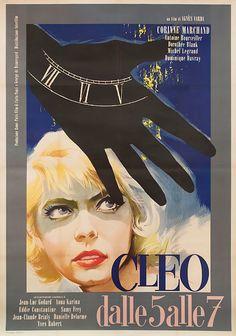 Italian 4-foglio for CLÉO FROM 5 TO 7 (Agnès Varda, France, 1962). Artist TBD.