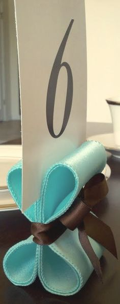 Table Number Holders  Ten 10 with Pool Blue and by ReservedSeating, $35.00