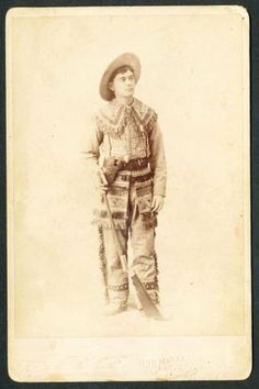AMAZING-1880s-COWBOY-Cabinet-Photo-Buckskins-Rifle-Bone-Pistol-Indian-THE-BEST