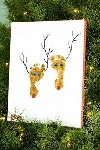 Cute art ideas for the holidays, esp love the reindeer art