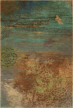 Karastan Artois 74800-14105 Avion Teal Rug - contemporary - rugs - PlushRugs