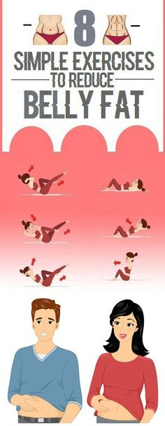 Simple Exercises for Belly fat Quickly
