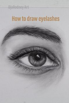 How to draw eyelashes step by step tutorial for beginners- Click on the link- @djarodneyart Don't forget to subscribe:)