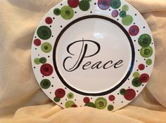 Project #42  POYP  paint your own pottery Christmas platter