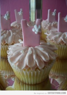 Tutu Cupcakes...I don't have a daughter but maybe I can get these for my next birthday, LOVE these!