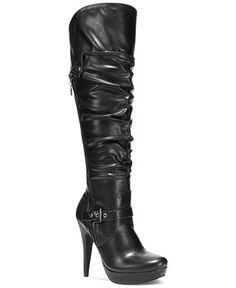 1a89d839c0e36 GUESS Drea Platform Dress Boots Clearance Shoes