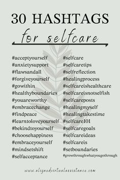 Want to increase your Instagram post reach to connect with your ideal clients? Hashtags are an amazing way to increase your reach organically! Check out these 30 hashtags for selfcare. Put them in a bundle and use them with your next selfcare-related post on IG! For more of these and THOUSANDS of other niched tags, follow the link &check out Hashtag Hub! | alignedvirtualassistance.com | #hashtags #selfcarehashtags #selfcare #selfcareisntselfish #businesstips #contentcreation #instagram