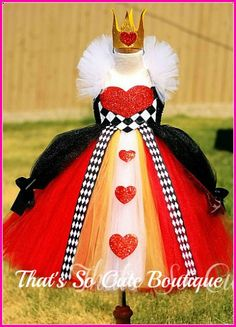 Queen of Hearts Kids Party Costume