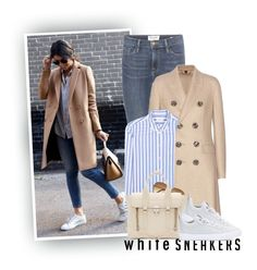 """""""We Can't Always Be Fly. We Gon' Be Good, Long As Them Sneakers White..."""" by hollowpoint-smile ❤ liked on Polyvore featuring Frame Denim, Burberry, Equipment, H&M, 3.1 Phillip Lim and Converse"""