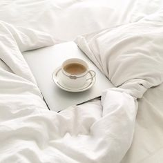 The perfect start to Christmas Eve... ☕️☁️ #verawangbedding