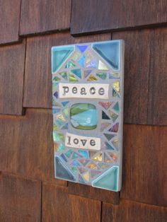 PEACE & LOVE Mosaic by Copper Cat Studio by katiesmosaics on Etsy, $28.00