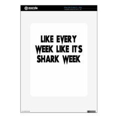 shark skin for iPad - funny quote quotes memes lol customize cyo