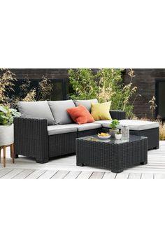 Buy Allibert California Corner Set from the Next UK online shop Outdoor Garden Furniture, Outdoor Decor, Take A Seat, Next Uk, Luxury Furniture, Beautiful Gardens, New Homes, Corner, Lounge