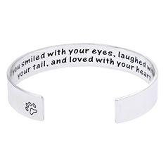 "Melix Pet Loss / Pet Memorial Gift Bracelet - ""You loved ..."