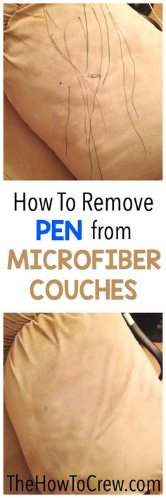 How To Remove Pen from Microfiber Couches on TheHowToCrew.com - it only takes 1 common household item!