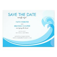 Hawaii Wedding Save the Date Cards Surfs Up! Wedding Save the Date Card Funny Wedding Invitations, Save The Date Invitations, Wedding Invitation Design, Save The Date Cards, Wedding Officiant Script, Wedding Dress Cost, Wedding Planning On A Budget, Budget Wedding, Wedding Reception Decorations