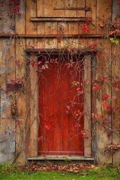 Old Barn Door in New England
