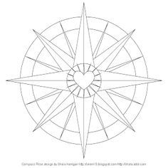 Don't Eat the Paste: Compass Rose coloring page Rose Coloring Pages, Free Coloring, Coloring Sheets, Coloring Books, Mandala Compass, Geometric Mandala, Compass Rose, Rose Petal Jam, Steampunk Patterns