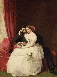 Long lost art of wedding portraits relived in photos - Wedding Clan Victorian Paintings, Victorian Art, Lost Art, Old Paintings, Beautiful Paintings, Romantic Paintings, Hans Baldung Grien, Louis Aragon, Art History