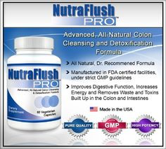 NUTRAFLUSH PRO - The #1 Complete Colon Cleanser and Full Body Detox Cleanse Supplement - 60 Capsules - List price: $49.95 Price: $22.48