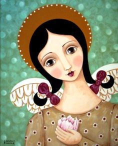 """""""Angel With Lily"""" by Claudia Garcia"""