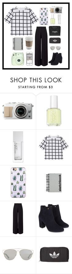 """""""We don't care,we're driving Cadillacs in our dreams."""" by thekatiford ❤ liked on Polyvore featuring Essie, NARS Cosmetics, Paperchase, Miss Selfridge, Fuji, Chanel, Monsoon, Christian Dior and adidas Originals"""