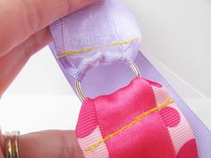 Tutorial: DIY Ribbon Wand - no grommet needed, just a key ring