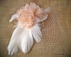 Blushing Bride Birdcage Veil by LoveSherman on Etsy