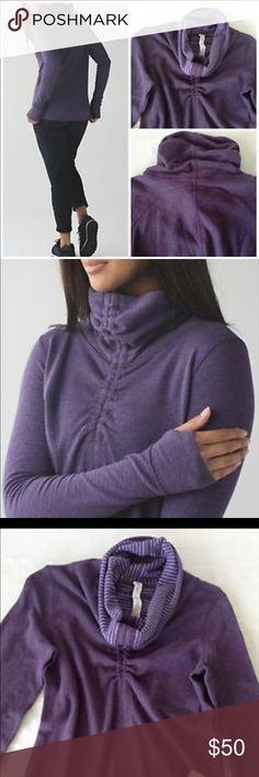 Lululemon In A Cinch LongSleeve Sz6 Purple Worn 3x LuLulemon In A Cinch Reversible Long Sleeve Pullover w/ high collar. Worn 3x's Size 6. Purple lululemon athletica Tops Sweatshirts & Hoodies
