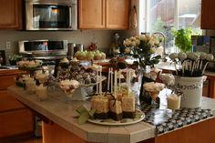 Display of desserts