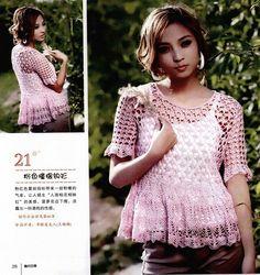 FANATICADELTEJIDO2WEB: blusa rosa