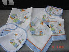 Kit de 6 peas com aplicao para meninos (BORDADOS NICE E KELLY) Tags: e fraldas bordadas cueiros aplicadas