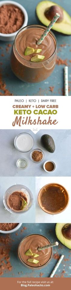 Say hello to your new favorite drink the thick and creamy Keto Cacao Milkshake Get the full recipe here paleoco Click the image for more info. Keto Foods, Ketogenic Recipes, Keto Snacks, Low Carb Recipes, Healthy Recipes, Keto Desserts, Radish Recipes, Diabetic Foods, Pescatarian Recipes