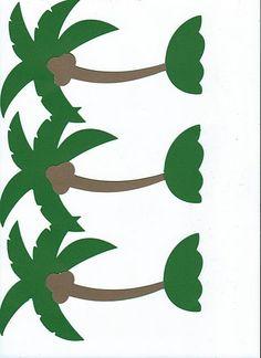 K chicka chicka on pinterest tree templates name for Chicka chicka boom boom palm tree template