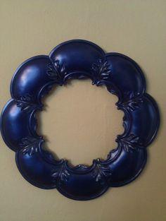 FlowerShaped Venetian Blue Frame by JUSTADDGINGER1 on Etsy, $40.00