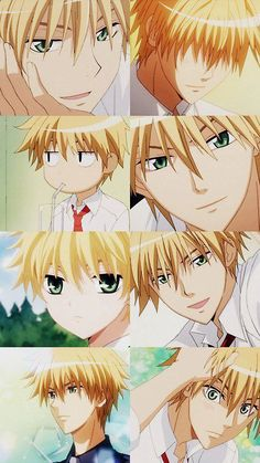 Maid Sama Manga, Anime Maid, Girls Anime, Anime Guys, Manga Anime, Me Me Me Anime, Anime Love, Blonde Hair Anime Boy, Usui Takumi