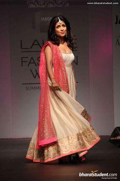 Shibani Kashyap in Anushree Reddy http://www.kalkifashion.com/designers/anushree-reddy.html @ Lakme Fashion Week #LFW Summer/Resort 2014