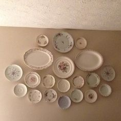Antique plates used as wall decor