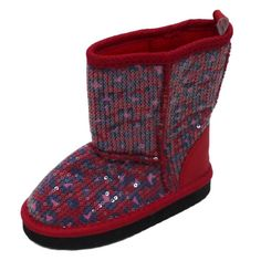 Truly Scrumptious Toddler Girls Red Leopard Print Sequin Boots 8T. Pretty red leopard print sequin boots. Lightweight. Velcro closure.