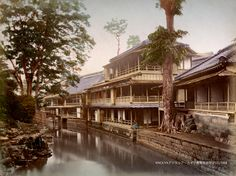 Tea House at Oji, Tokyo - Kimbei Kusakabe