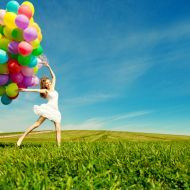 Happy Birthday Woman Against The Sky With Rainbow-colored Air Ba Stock Photo - Image of balloons, laugh: 43533964 Facebook Image, For Facebook, Sad Love, Love You, Happy Birthday Woman, Urdu Image, Hindi Shayari Love, Ways To Be Happier, Happiness